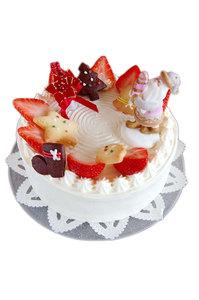 縺・いちごのクリスマスデコレーションケーキ