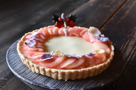 2020クリスマス チーズ・りんご・ローズタルト